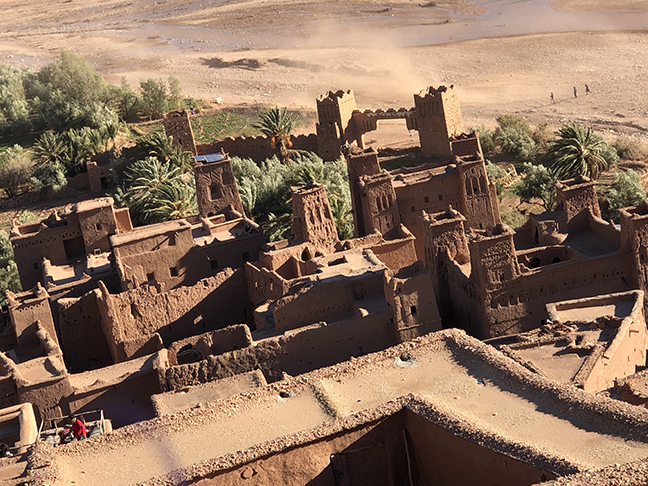 an ancient city built with red clay
