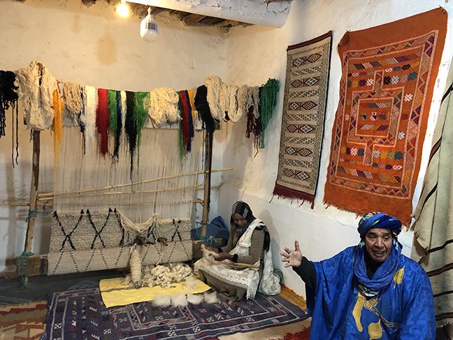 a Berber weaver's studio