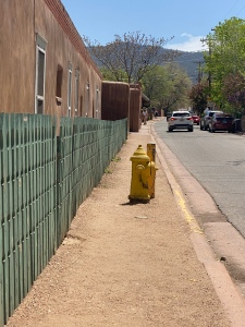 image of a fire hydrant blocking a sidewalk